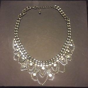 Multiple Diamond Statement Necklace